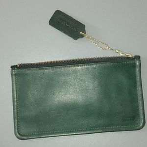 Coach Vintage Green Skinny Case Style 7170